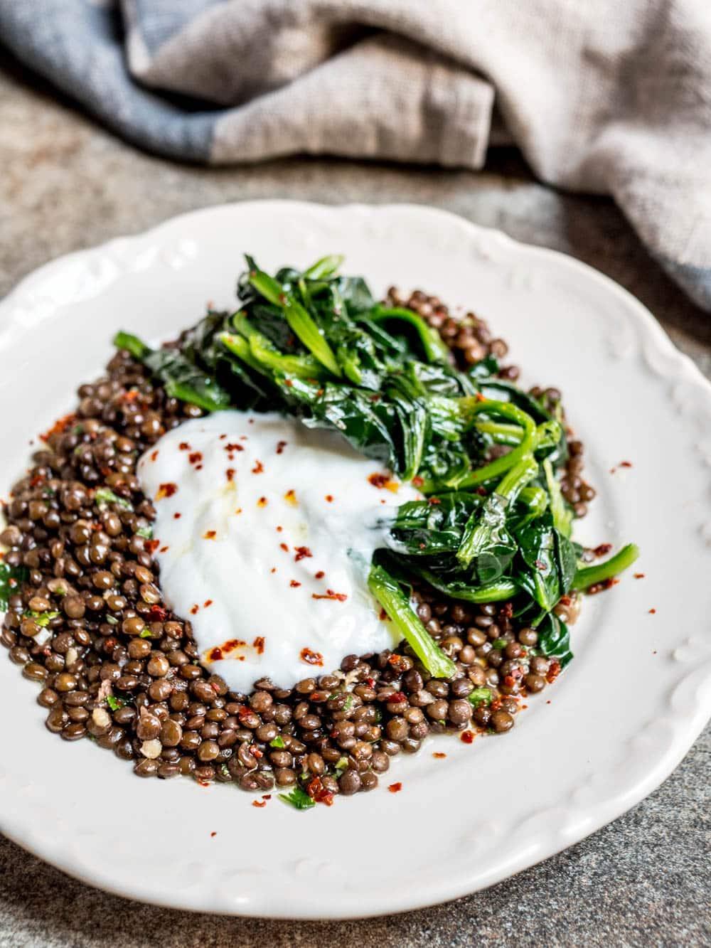 Grønne linser med spinat - oppskrift / Et kjøkken i Istanbul