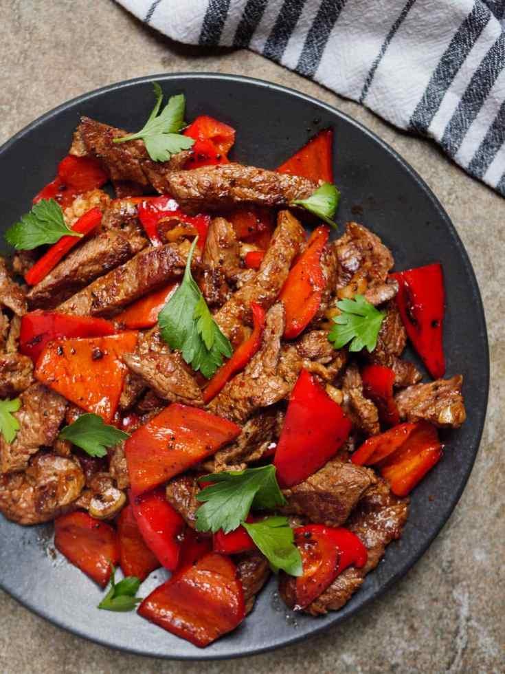 Biffstrimler med paprika – rask og enkel oppskrift til hverdagen (Et kjøkken i Istanbul)