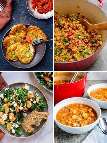 12 naturlig sunne vegetariske middager
