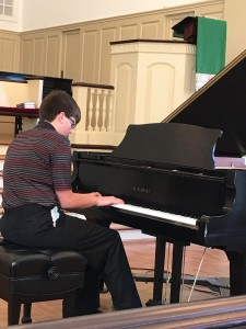 """TRACE BRIMER, STUDENT OF SUZANNE SOLUM, PLAYS """"THE STORM"""" by BURGMULLER."""