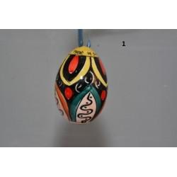 Uovo di pasqua in ceramica di caltagirone realizzato a mano. Uova Da Appendere