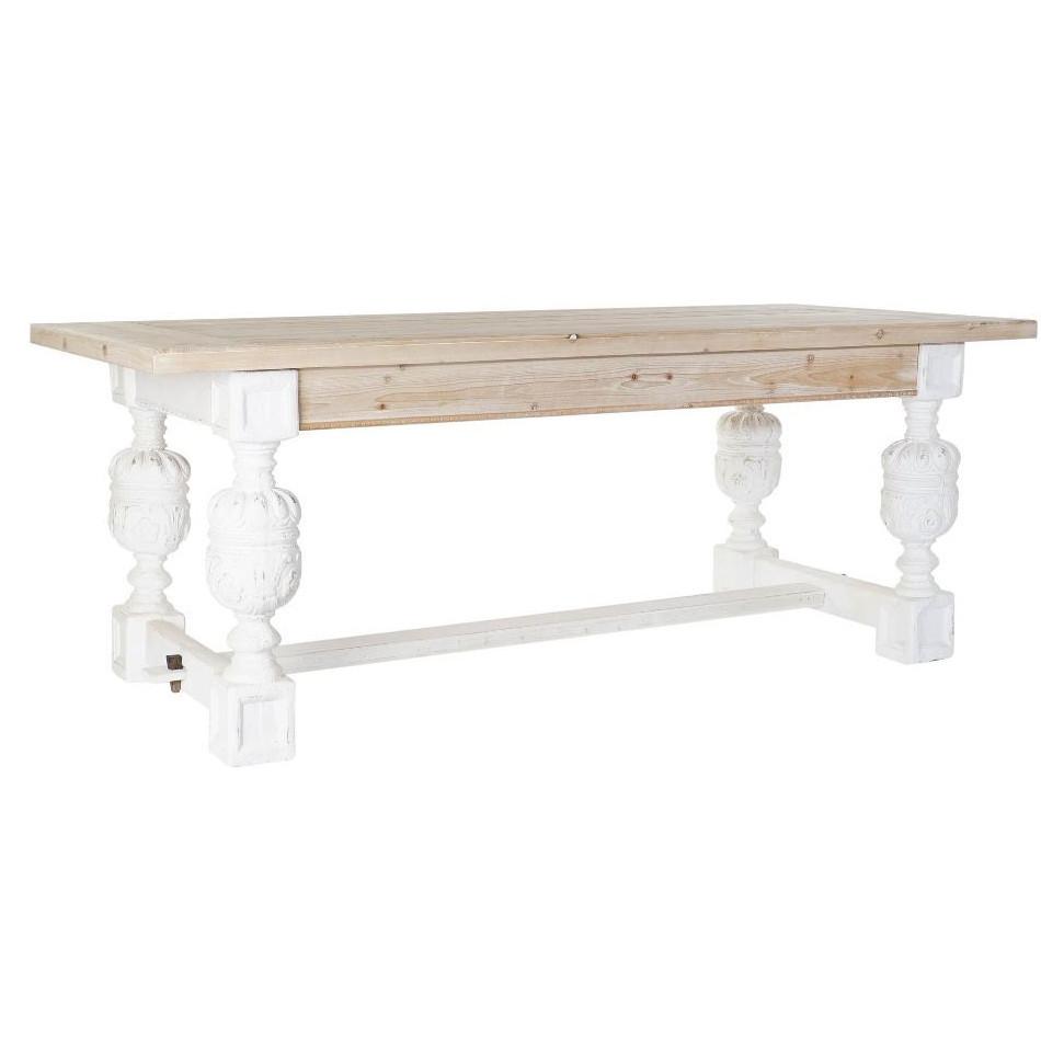 Tris di tavolini bianchi decorati. Tavolo Shabby Chic Bianco Provenzale Industrial Provenzali Vintag