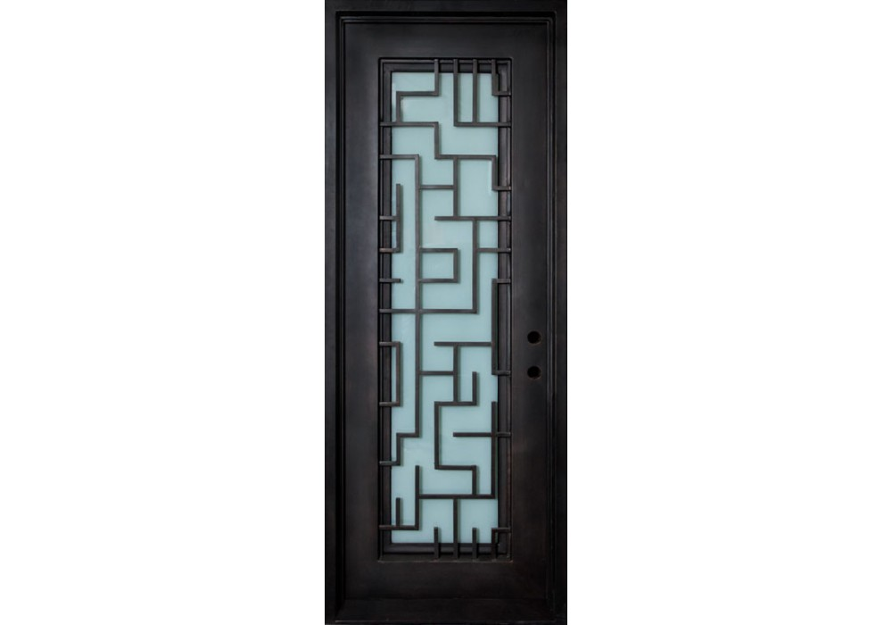 Wrought Iron Door Comes With Frame Amp Glass With Tetris
