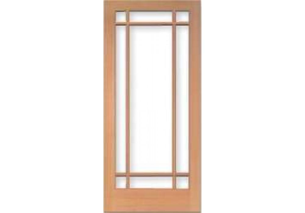 TM1509 Vertical Grain Douglas Fir French Door 9 Lite