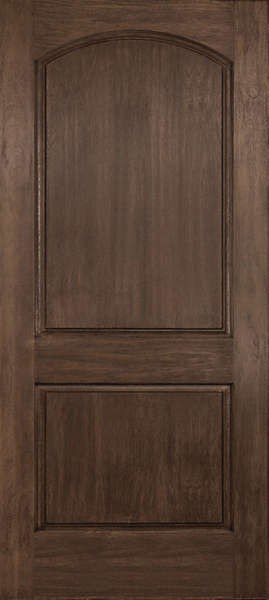 DRA2D Linden Plastpro RUSTIC TWO PANEL ARCH TOP DOOR