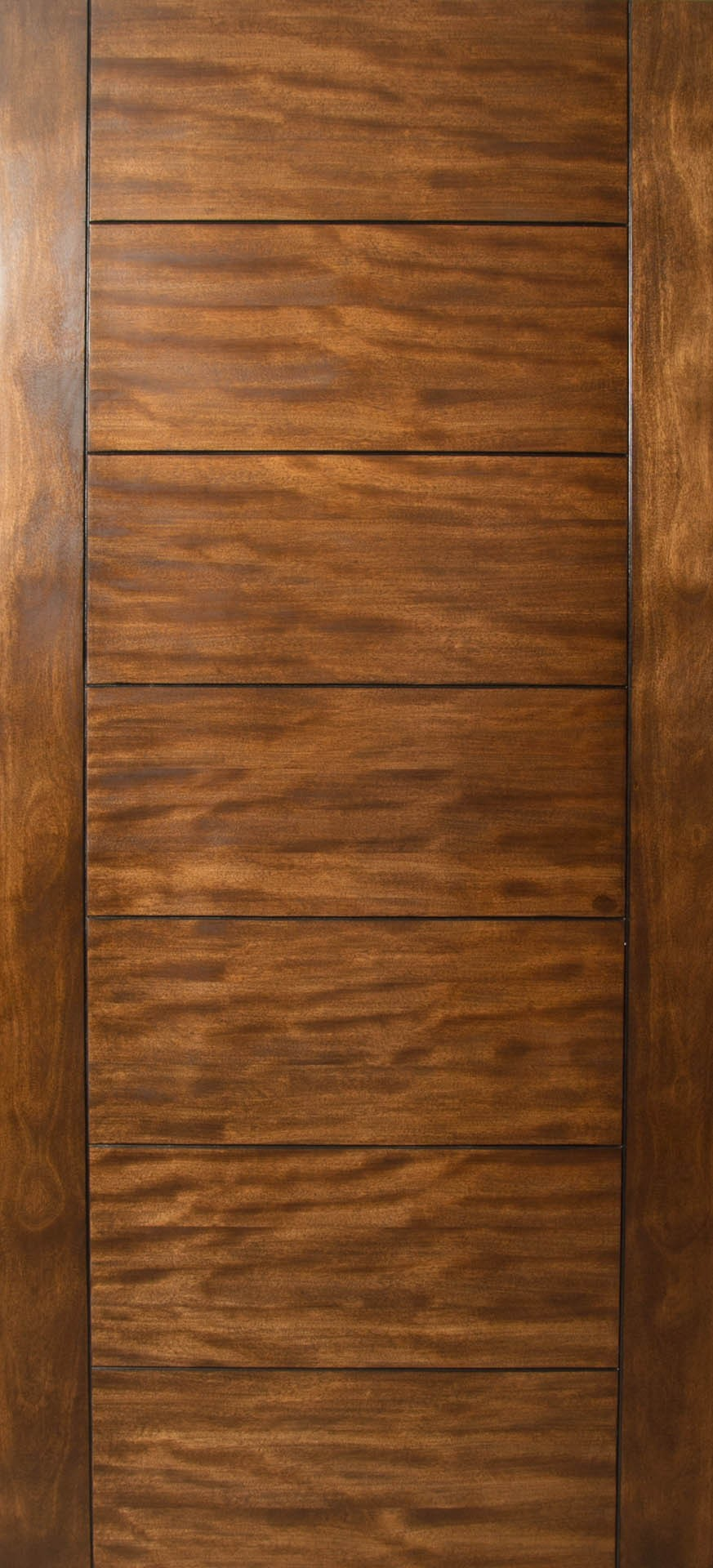 Sulcus Multi Horizontal Plank Wood Door W Vertical