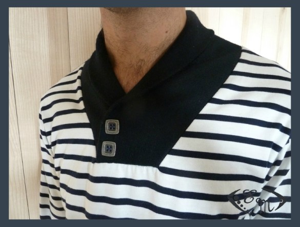 sous pull jersey homme patron couture col marin