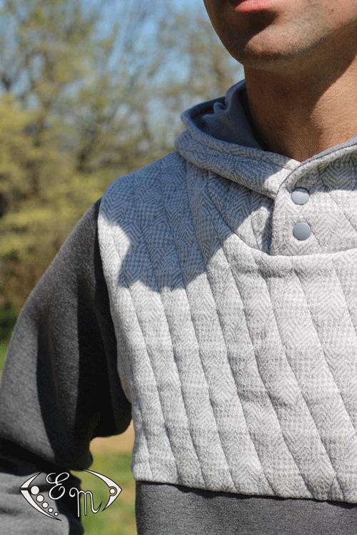 aconit sous pull capuche jersey patron couture