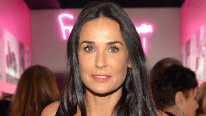 demi moore, 53, lets her gray hair grow out as she embraces