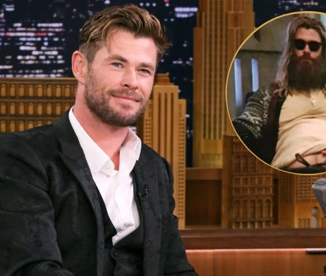 Watch Chris Hemsworth Perform Johnny Cashs Hurt As Fat Thor In Avengers Endgame Behind The Scenes Clip Entertainment Tonight