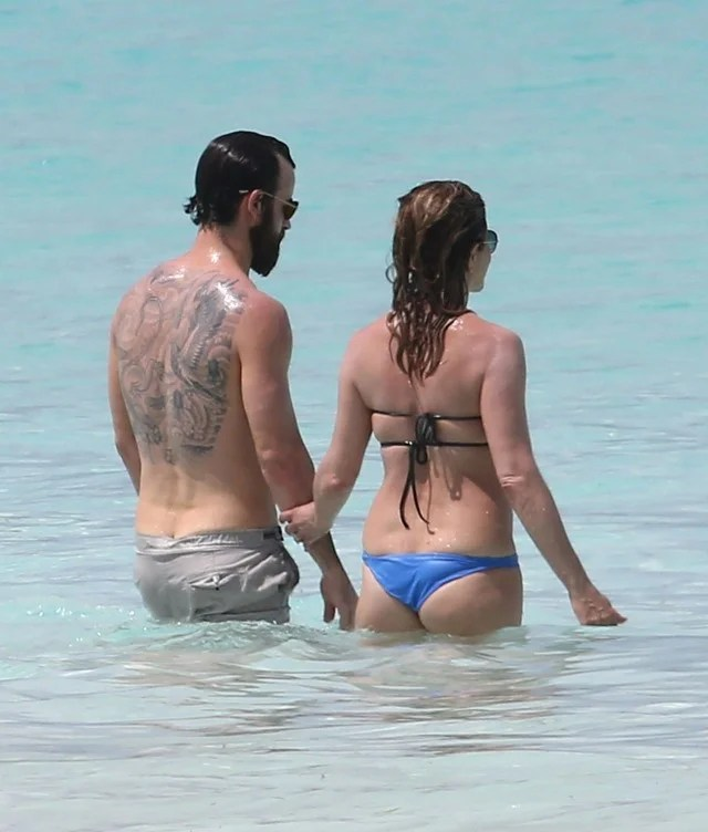 Jennifer Aniston And Justin Theroux Pack On The PDA During