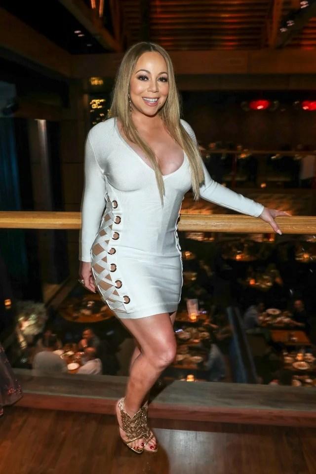 Mariah Carey Rocks Skintight Mini Dress To Birthday Bash