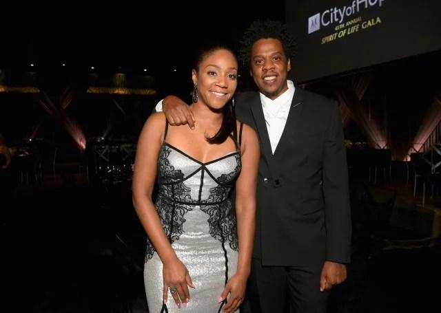 Tiffany Haddish and Jay-Z