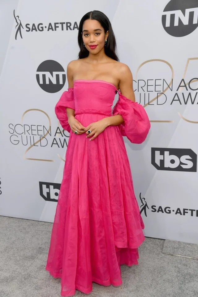 Laura Harrier at 2019 sag awards