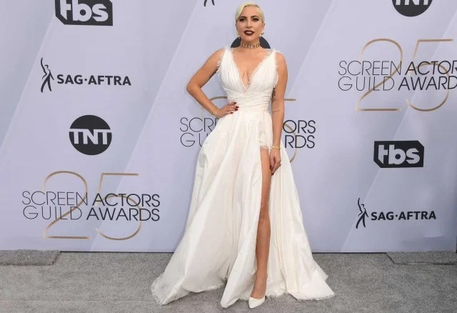 Lady Gaga at the 25th Annual Screen Actors Guild Awards