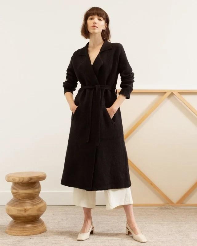 Modern Citizen black belted coat