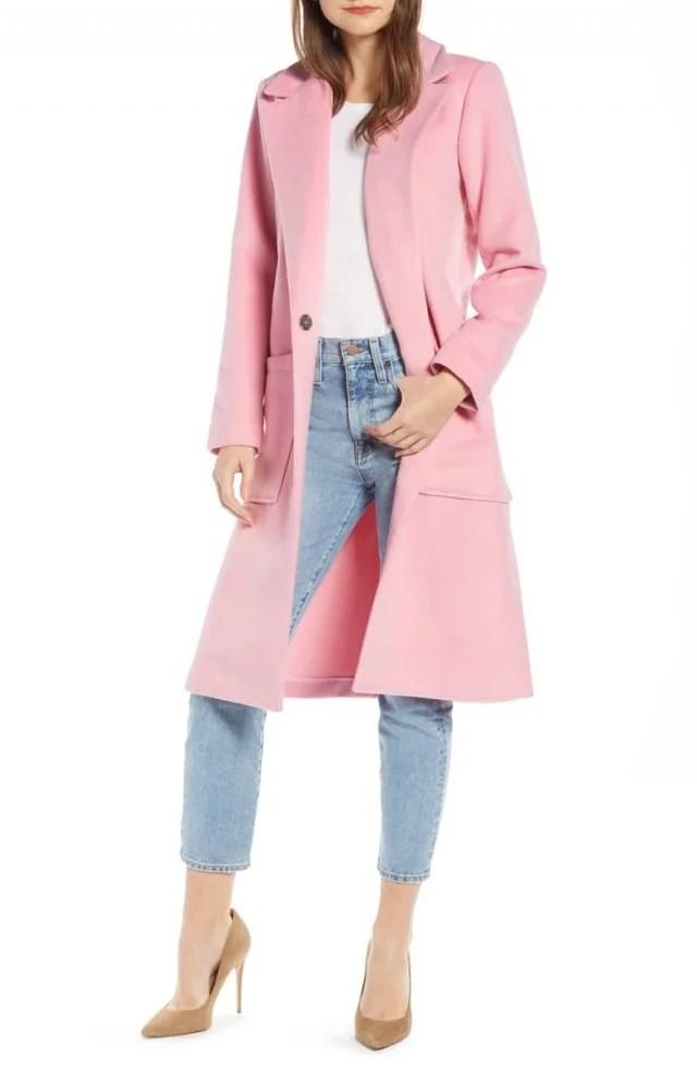 Something Navy pink coat