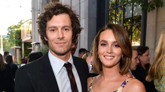Adam Brody and Leighton Meester in August 2019