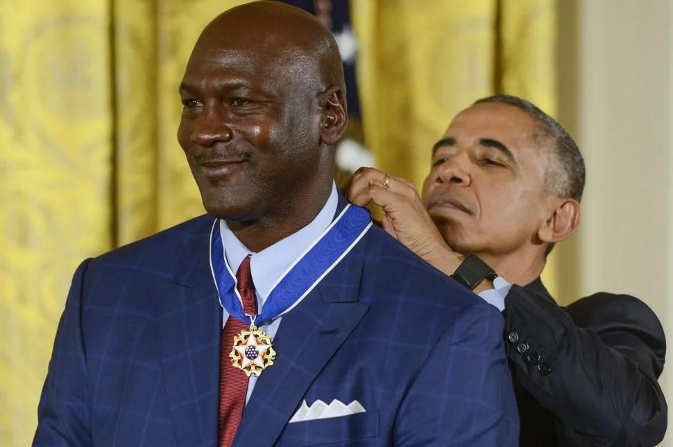 Michael Jordan, Barack Obama