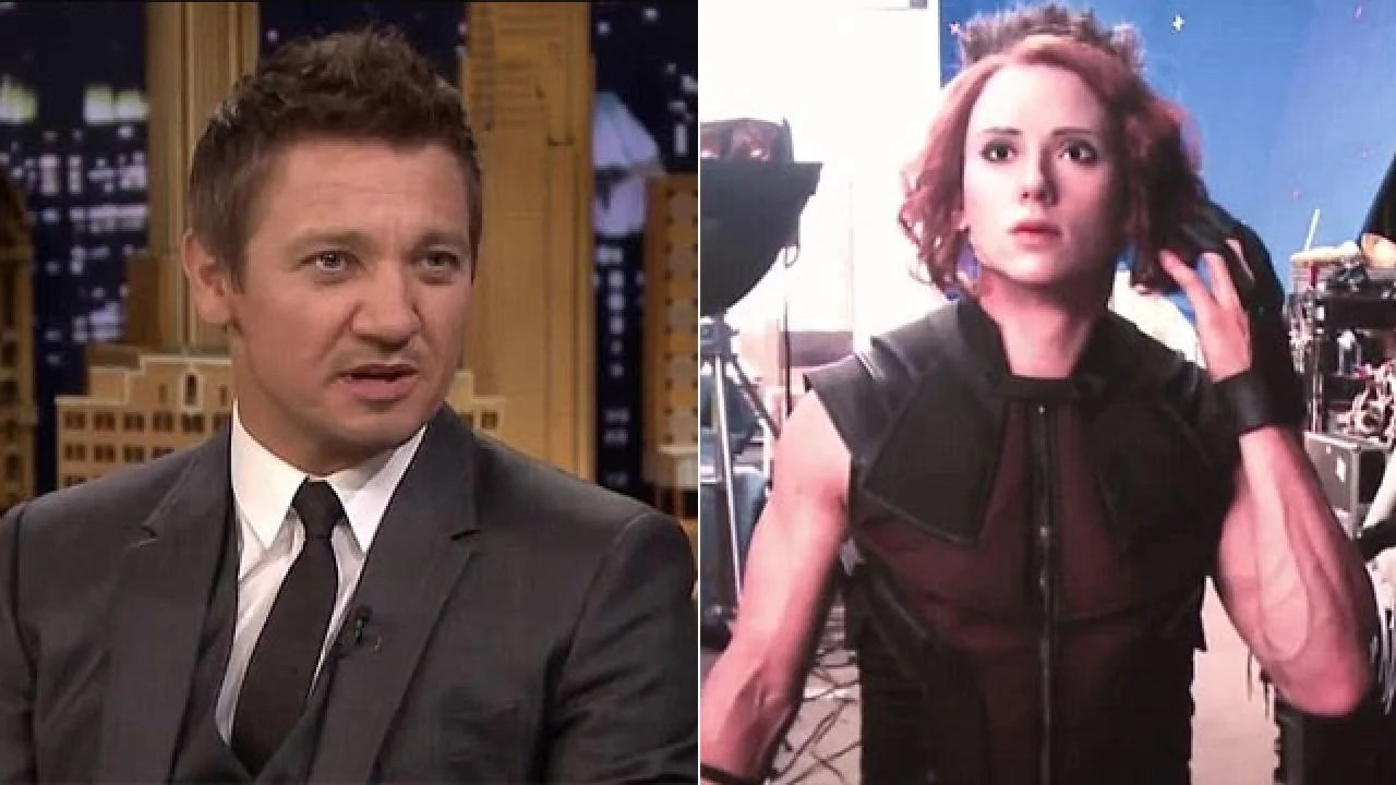 That Time Jeremy Renner Dressed Up as Scarlett Johansson ...