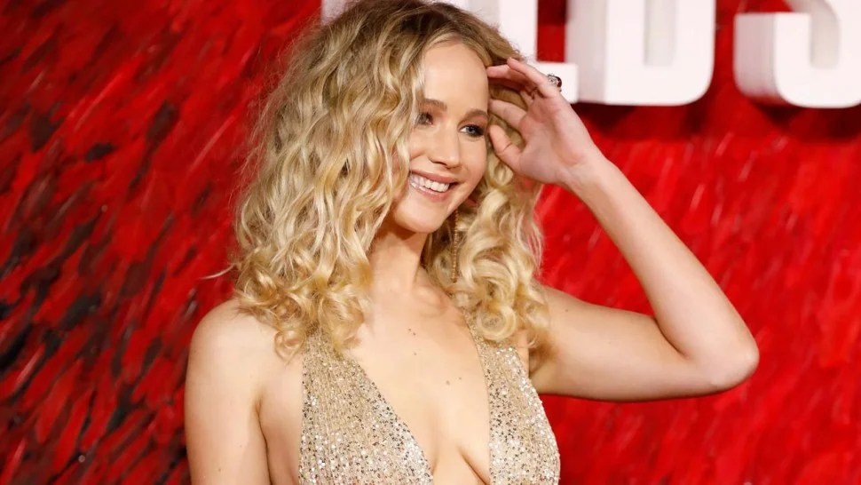 Jennifer Lawrence Gets A Piggyback Ride From Rumored