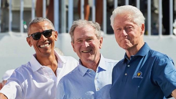 Barack Obama George W Bush Bill Clinton
