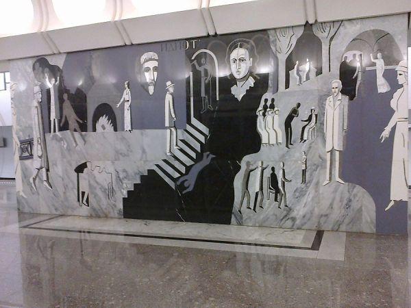 Ф.М.Достоевский и его персонажи в метро, Иное, ИЗО, Москва