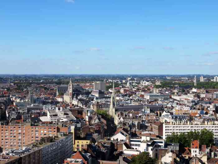 Lille, Vue du Beffroi de l'Hôtel de Ville ©Etpourtantelletourne.fr