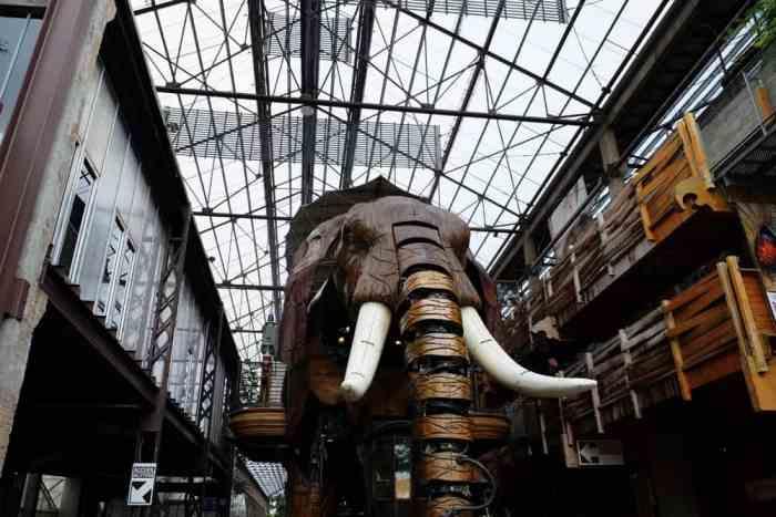 Voyage à Nantes 2017 L'éléphant de l'ïle de Nantes ©Etpourtantelletourne.fr