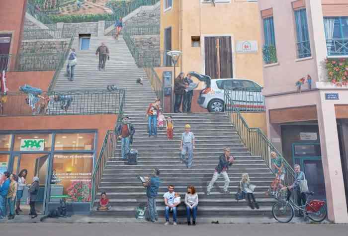 Mur des canuts Lyon quartier de la Croix Rousse ©Etpourtantelletourne.fr
