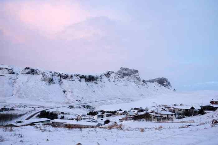 Islande en hiver Vik sous la neige ©Etpourtantelletourne.fr