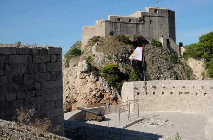 Itinéraire sur les lieux de tournage de Game of Thrones en Croatie - Dubrovnik - Fort Bokar - Donjon Rouge - Port Réal ©Etpourtantelletourne.fr