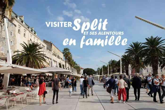Visiter Split en Croatie en famille avec des enfants et bébé ©Etpourtantelletourne.fr
