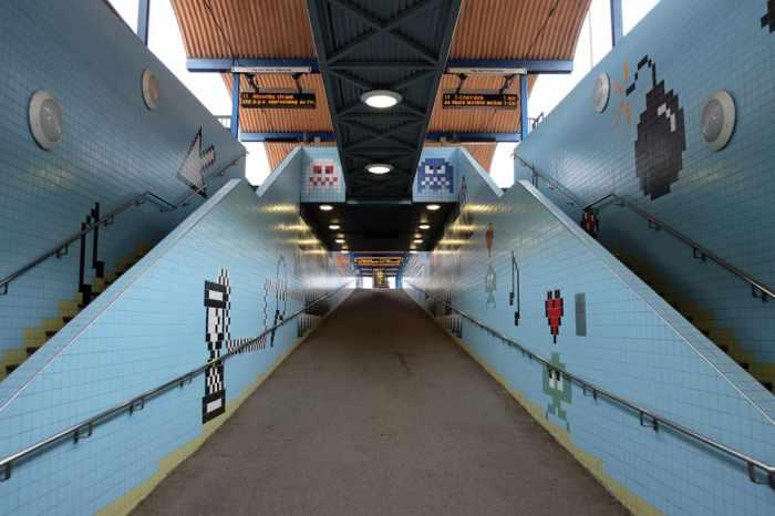 Les jolies stations de métros de Stockholm : Thorildsplan, sur la ligne verte // ©etpourtantelletourne.fr