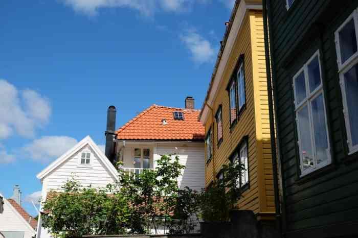Maisons dans le quartier de Nordnes à Bergen  ©Etpourtantelletourne.fr