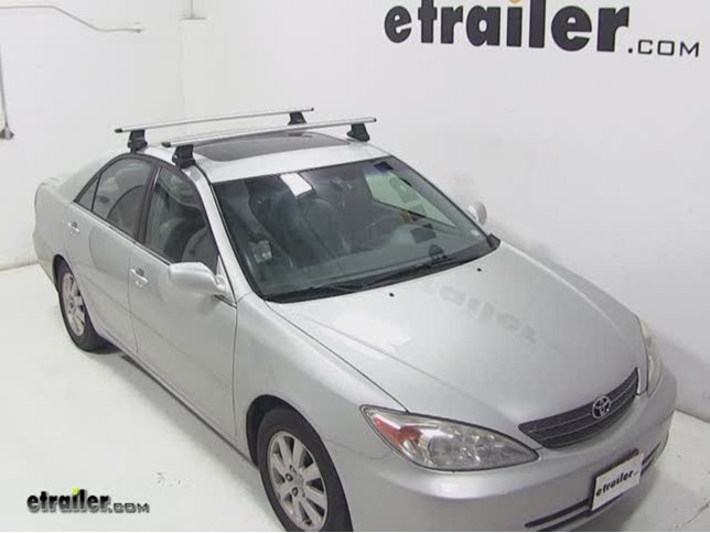 thule aeroblade traverse roof rack installation 2002 toyota camry