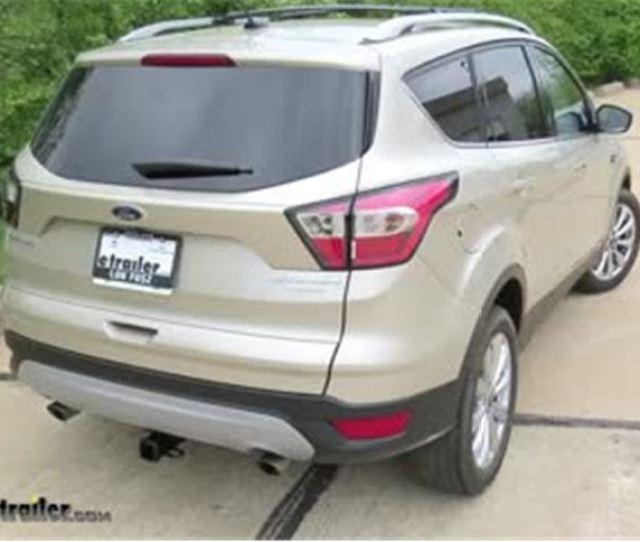 Trailer Hitch Installation  Ford Escape Draw Tite Video Etrailer Com