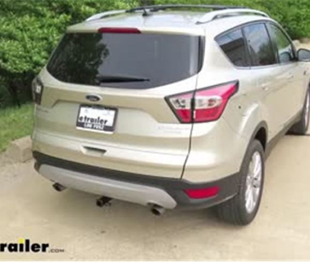 Trailer Hitch Installation  Ford Escape Curt Video Etrailer Com