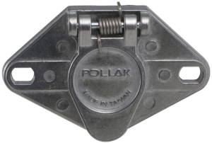Pollak 6Pole, Round Pin, Trailer Wiring Socket  Vehicle