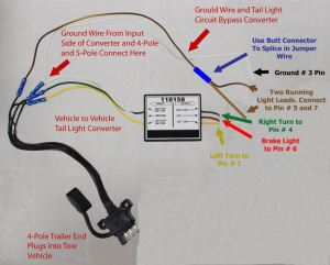 Using Tail Light Converter To Attach Bike Rack With Euro Wiring On 2015 Honda CRV With 4Way