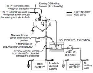 Wiring Diagram for Deka 95amp Battery Isolator # DW08770