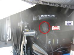 Location of Brake Controller Connector 2016 Ford F53 Motorhome Chassis | etrailer