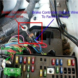 Brake Controller Installation Instructions on a 2003