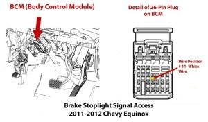 Locating Brake Stoplight Signal to Install Brake