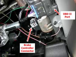 Location of Brake Controller Connector on 2005 Ford F150   etrailer