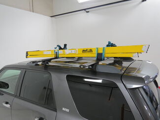 how to tie a ladder to a roof rack