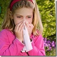 Petite fille avec rhume