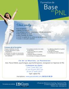 Formation de base PNL août 17 - Ile de La Réunion, avec Pascal Malet, psychologue, psychothérapeute, enseignant en Hypnose PNL-3
