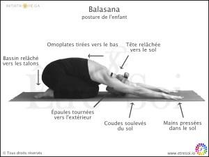 posture yoga - balasana - indications - Être Soi