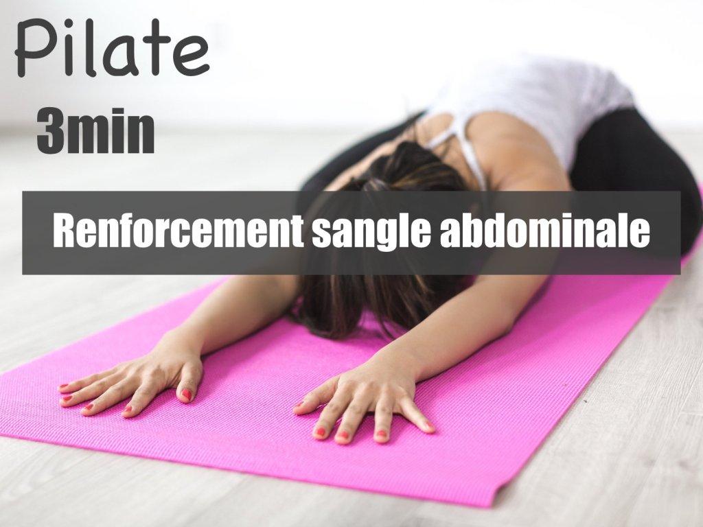 cours de pilate - renforcement sangle abdominale - être soi